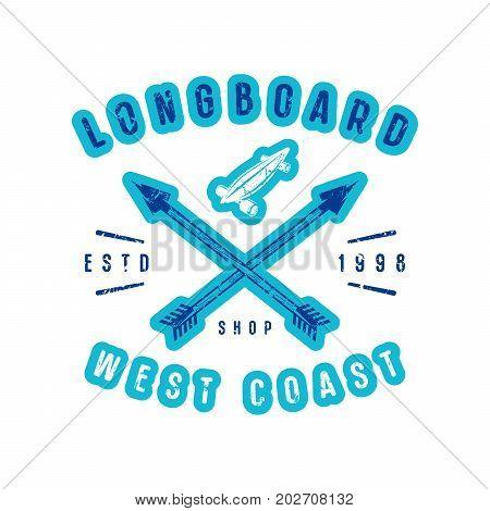 Emblem Of Longboard Shop