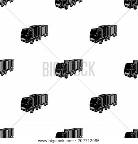 A large truck for the transport of goods. Transportation and delivery single icon in black style isometric vector symbol stock illustration .