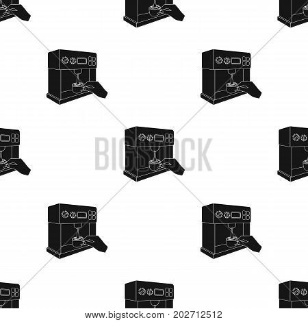 Coffee, single icon in black style.Coffee vector symbol stock illustration .