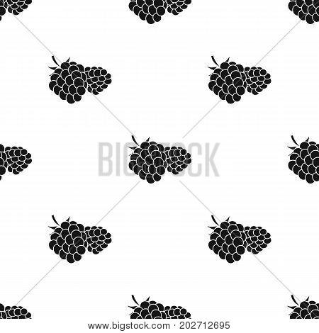 Raspberry, sweet fruit.Fruit single icon in black style vector symbol stock illustration .
