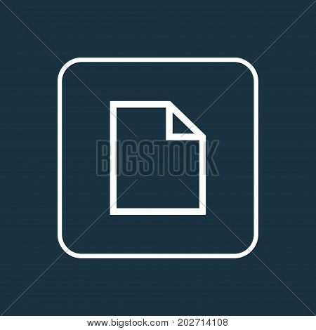 Premium Quality Isolated File Element In Trendy Style.  Folder Outline Symbol.
