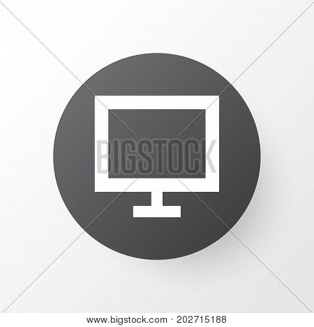 Premium Quality Isolated Monitor Element In Trendy Style.  Display Icon Symbol.
