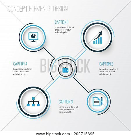 Business Colorful Icons Set. Collection Of Growing Chart, Local Area, Contract And Other Elements