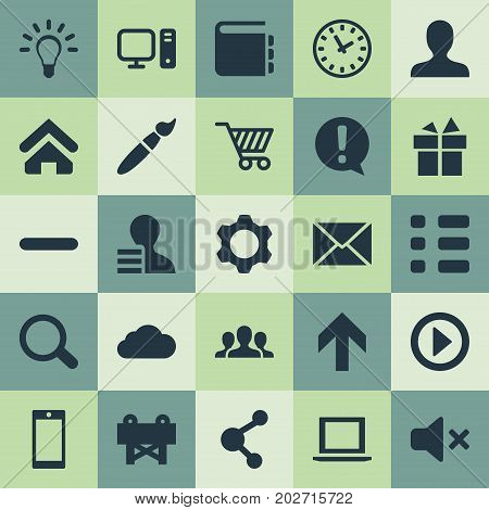 Elements Reconstruction, Publish, Clock And Other Synonyms Storage, Design And Developer.  Vector Illustration Set Of Simple UI Icons.