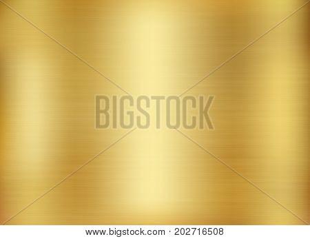 Gold background gold polished metal. Gold metal texture background