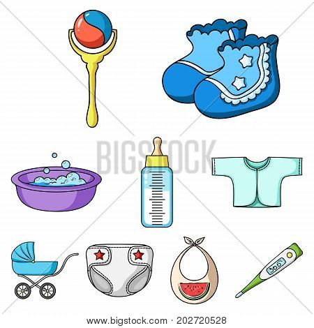 Baby born set icons in cartoon design. Big collection of baby born vector symbol stock illustration