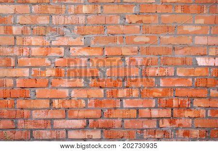 Wall of red brick, masonry, texture, pattern