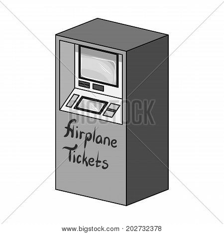 Terminal for aviation tickets. Terminals single icon in monochrome style isometric vector symbol stock illustration .