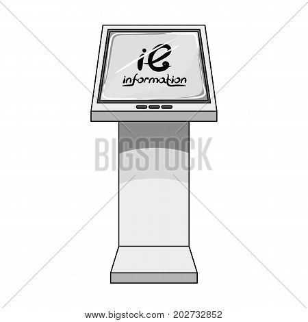 Information terminal. Terminals single icon in monochrome style isometric vector symbol stock illustration .