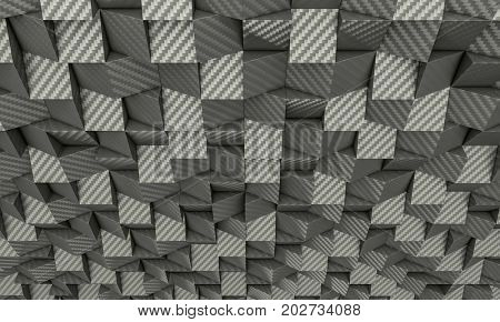 3d poly carbon fiber geometric background texture
