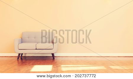 Large luxury interior home with gray loveseat