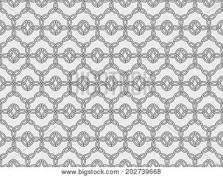 Seamless Pattern With Ancient Runes. Triquetra Symbol. Vector Illustration