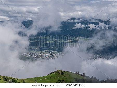 The City Innsbruck Of Bird's-eye View , Austria