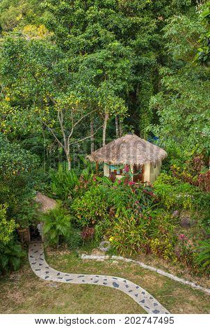 Beautiful bungalow resort in jungle on Koh Chang island, Thailand