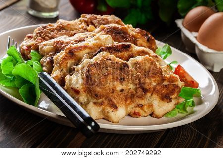 Chicken Medallion With Red Pepper Portions