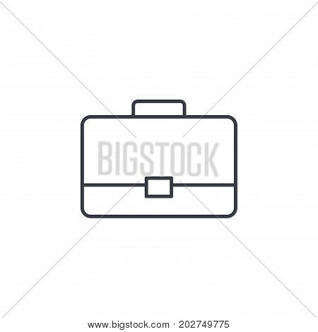 case, briefcase, career symbol, portfolio thin line icon. Linear vector illustration. Pictogram isolated on white background