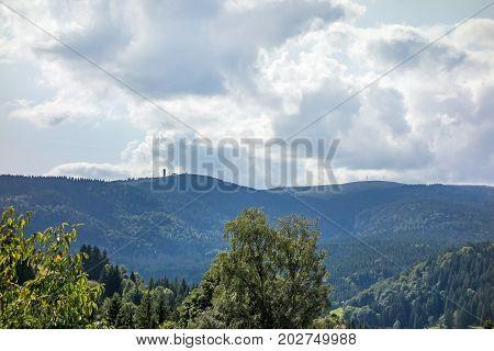 Mountain Peak Feldberg With Tower - Distant View