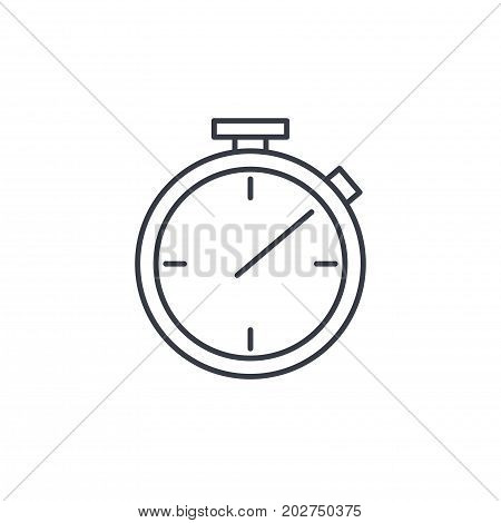 stopwatch thin line icon. Linear vector illustration. Pictogram isolated on white background