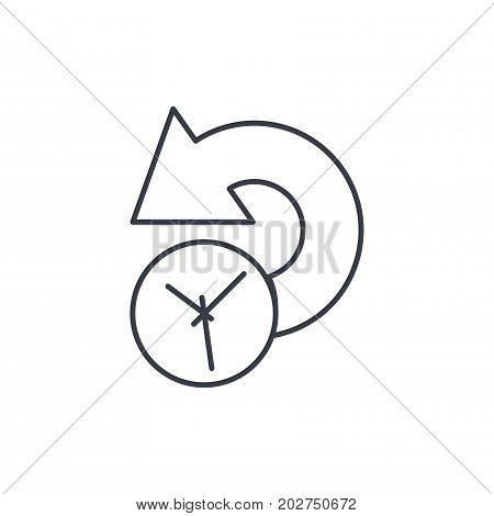 history, past time thin line icon. Linear vector illustration. Pictogram isolated on white background
