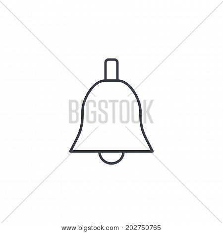 Bell ringer thin line icon. Linear vector illustration. Pictogram isolated on white background