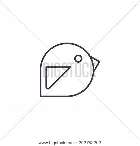 bird, message symbol, tweet thin line icon. Linear vector illustration. Pictogram isolated on white background