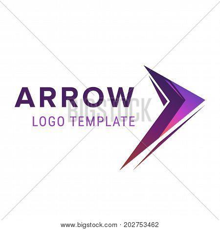 Arrow abstract business logo icon design template. Arrow logo template vector illustration