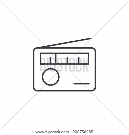 radio receiver, station thin line icon. Linear vector illustration. Pictogram isolated on white background