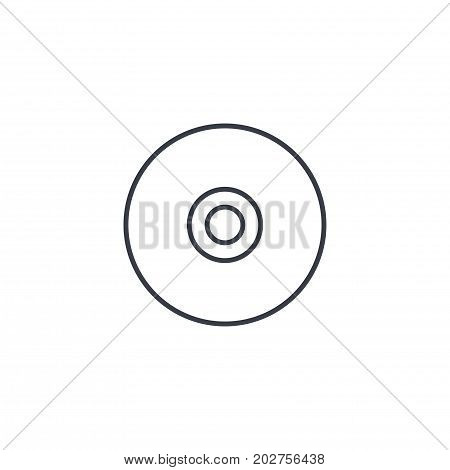 compact disk thin line icon. Linear vector illustration. Pictogram isolated on white background