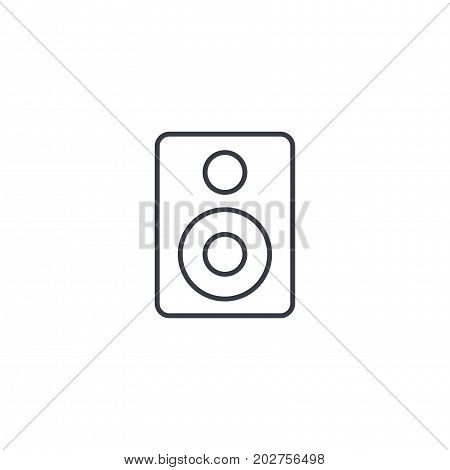subwoofer speaker thin line icon. Linear vector illustration. Pictogram isolated on white background