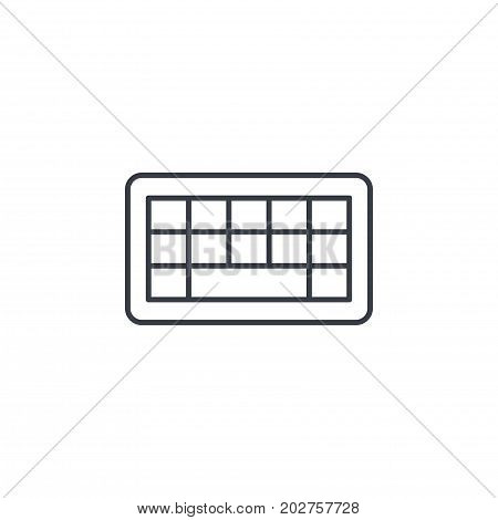 keyboard buttons thin line icon. Linear vector illustration. Pictogram isolated on white background