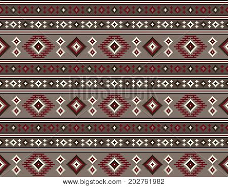 American Indians tribal texture, seamless pattern. Navajo style.