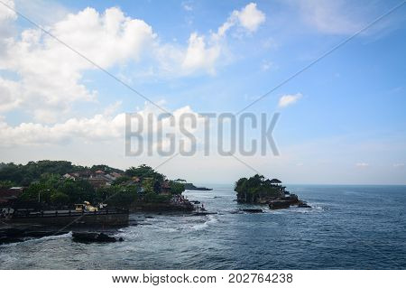 Tanah Lot Temple On The Sea In Bali, Indonesia