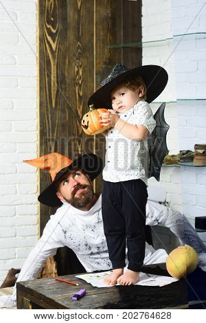 Witcher And Little Magician Make Halloween Decor