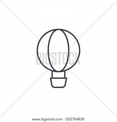 Air balloon thin line icon. Linear vector illustration. Pictogram isolated on white background