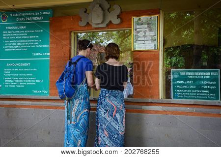 People Waiting At Ticket Booth