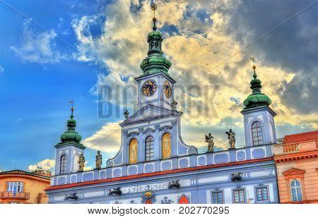 Town Hall of Ceske Budejovice - South Bohemia, Czech Republic.