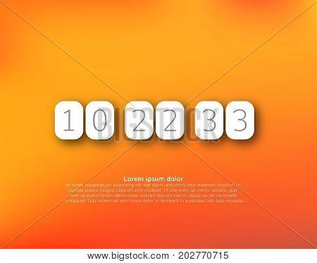 Countdown timer vector clock counter vector digital clock