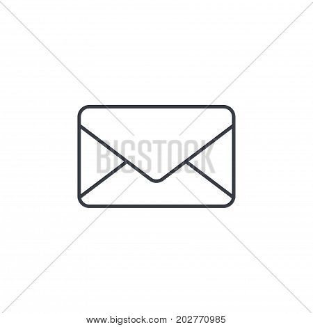 envelope, email letter, mail thin line icon. Linear vector illustration. Pictogram isolated on white background