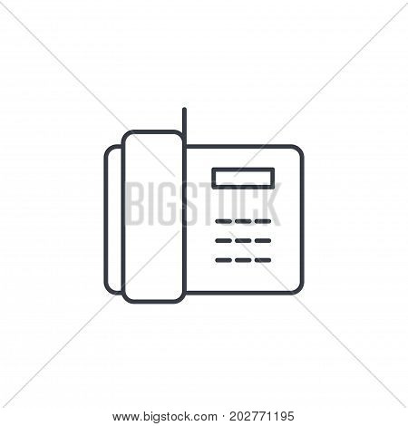 telephone, office phone thin line icon. Linear vector illustration. Pictogram isolated on white backgroundfog
