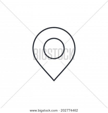 Navigation, location marker, cursor thin line icon. Linear vector illustration. Pictogram isolated on white background