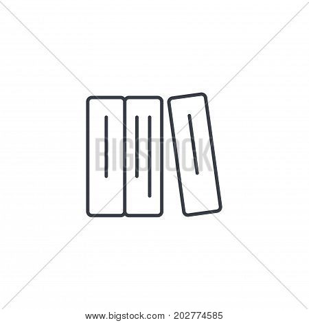 education book, library, literature thin line icon. Linear vector illustration. Pictogram isolated on white background