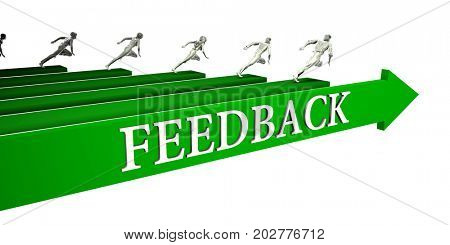 Feedback Opportunities as a Business Concept Art 3D Illustration Render