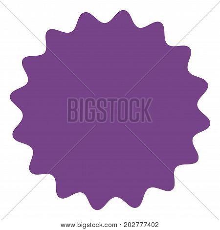 Icon of starburst, sunburst badge,label, sticker. Purple, lilac, violet color. Simple flat style Vintage  design elements. Vector illustration