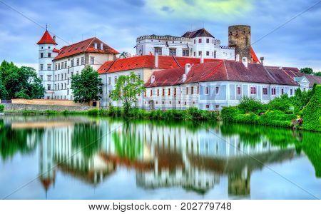 View of Jindrichuv Hradec castle in South Bohemia, Czech Republic.