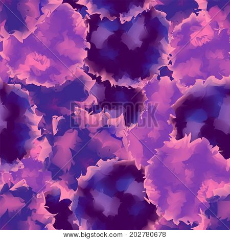 Violet Seamless Watercolor Texture Background. Overwhelming Abstract Violet Seamless Watercolor Text