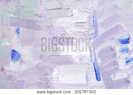 brushstroke with oil paints in magenta colors on canvas