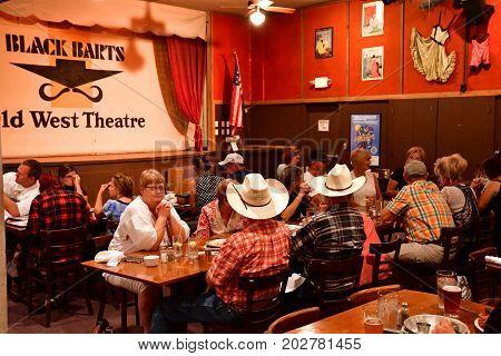 Arizona USA - july 7 2016 : the Black Barts steakhouse in Flagstaff