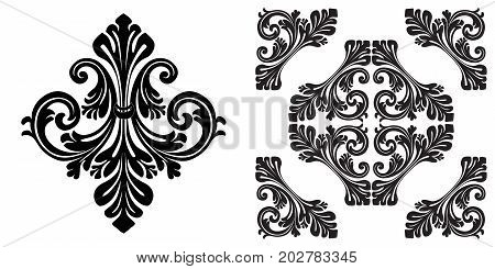 Vintage ornament, baroque ornament, scroll ornament, engraving ornament, border ornament, floral ornament, retro pattern, antique pattern, style acanthus pattern, foliage pattern, swirl pattern decorative pattern, filigree pattern. vector