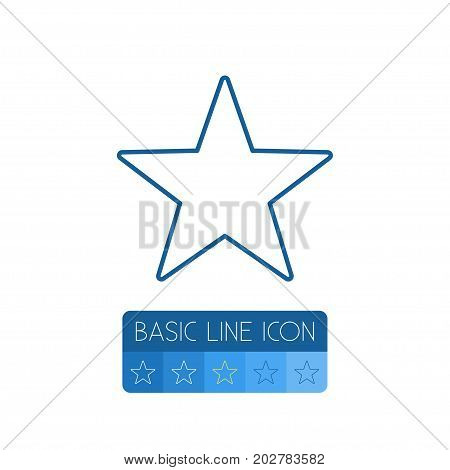 Favorite Vector Element Can Be Used For Star, Favorite, Sky Design Concept.  Isolated Star Outline.