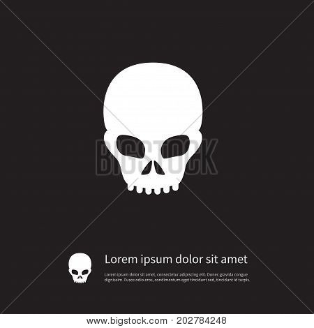 Pirate Vector Element Can Be Used For Skull, Pirate, Scary Design Concept.  Isolated Scary Icon.